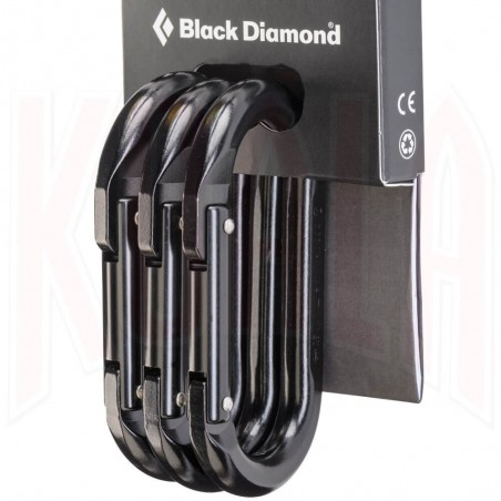 Mosqueton Black Diamond OVAL 3-Pack