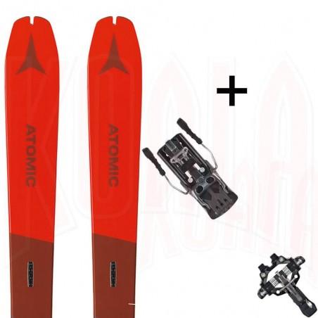 Pack esquí de travesía BACKLAND 78 y fijación BACKLAN TOUR