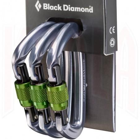 Mosqueton aluminio Black Diamond POSITRON 3-Pack