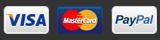 Aceptamos Visa, Mastercard, PayPal
