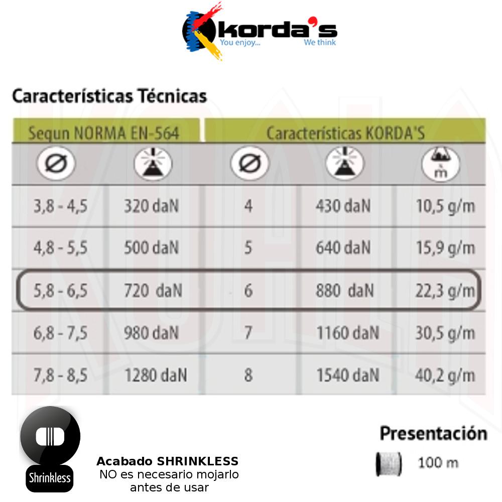 CORD8-C100-06_KORDAS_cordino-6mm_deportes-koala_escalada,alpinismo,climbing,barranquismo-canones-descenso