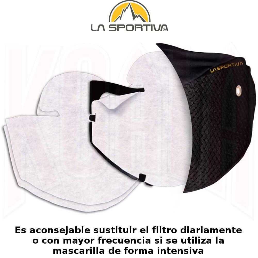 Mascarilla higiénica con filtro STRATOS MASK La Sportiva