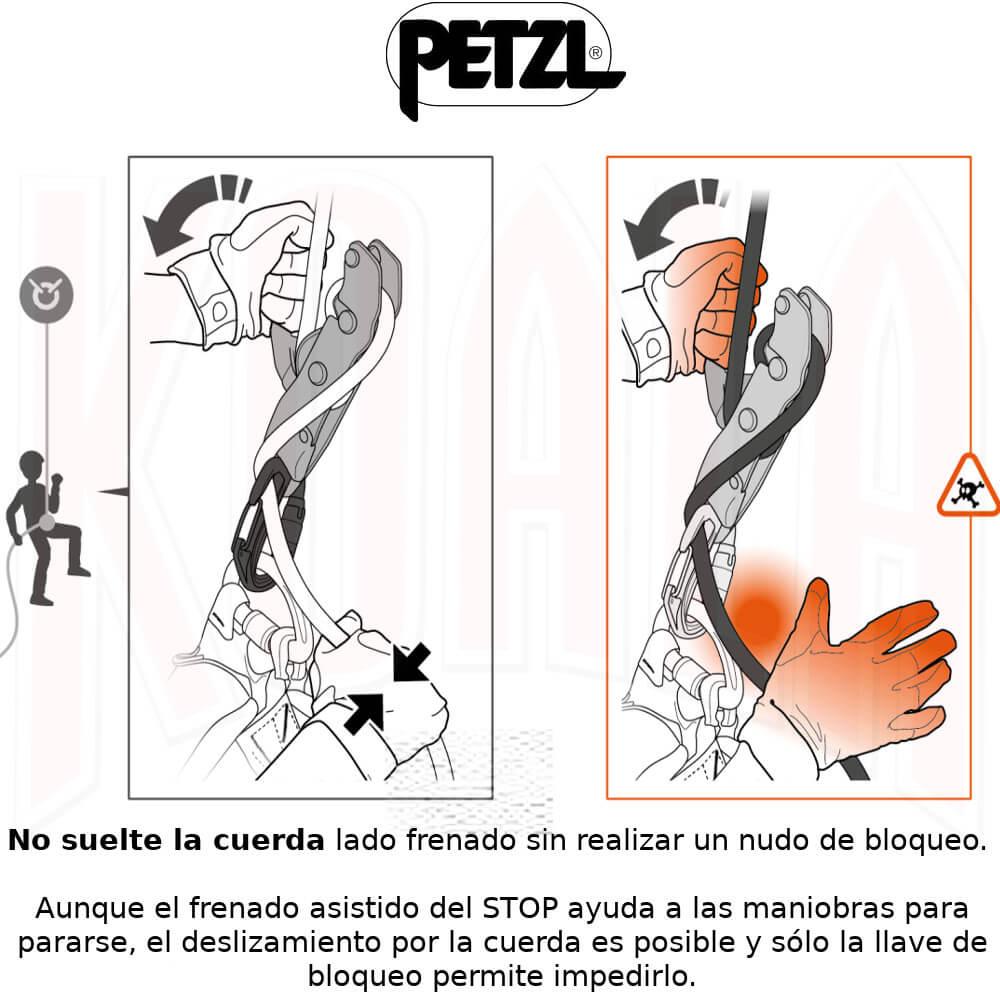 PETZL/Descensores/D009AA00-10_PETZL_Descensor_PETZL_Autofrenado_Deportes_KOALA_Madrid_espeleo_escalada_alpinismo_rescate_work