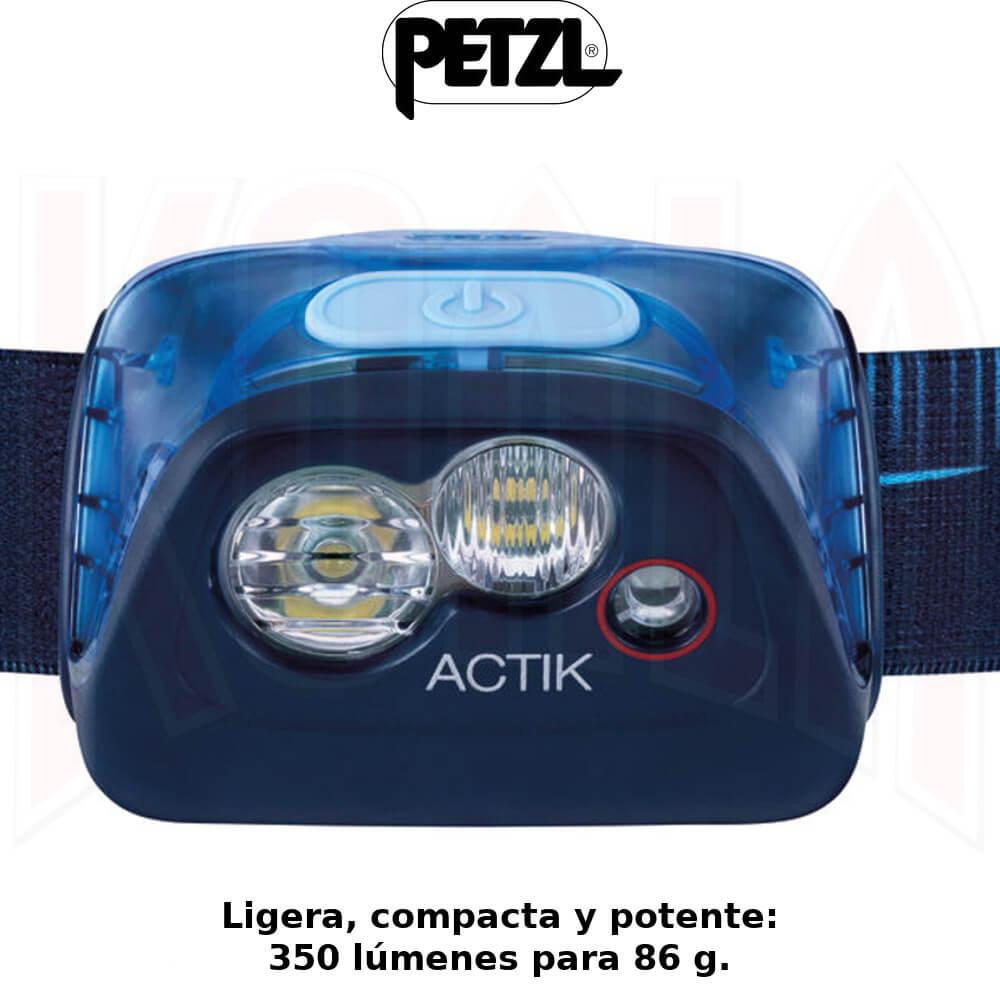 Linterna frontal Petzl ACTIK 350 lumens-Trekking-Trail-Running-alpinismo