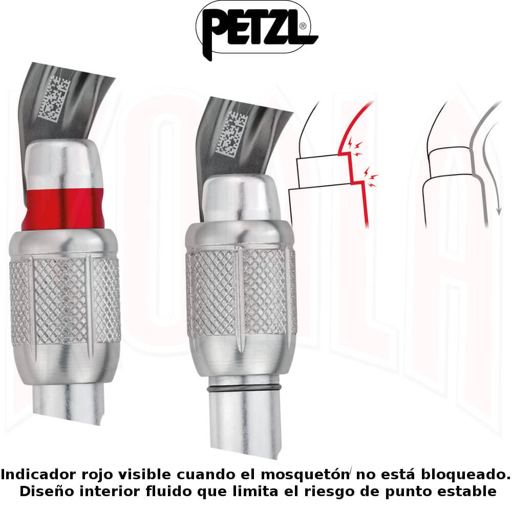 Mosqueton aluminio WILLIAM Screw-Lock Petzl